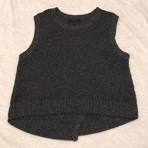 Banana Republic Crop ribbed knit sweater blouse